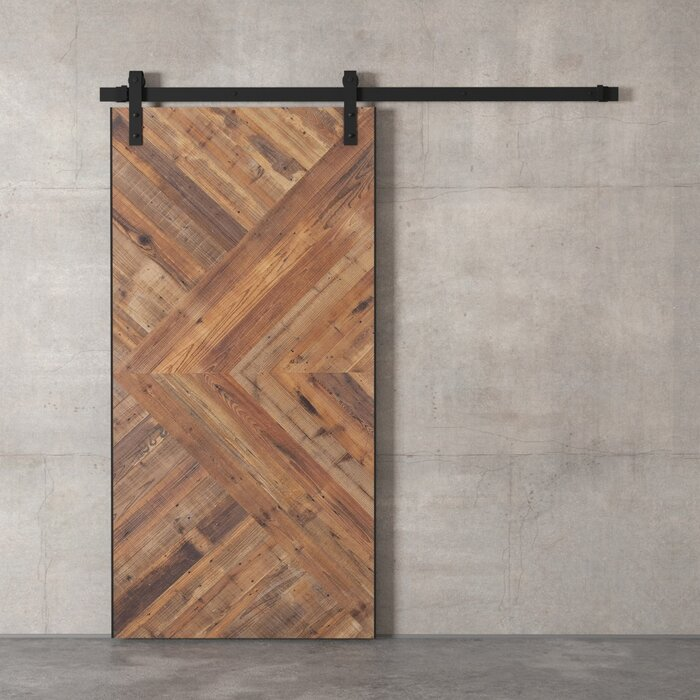 Modern Chevron sliding doors