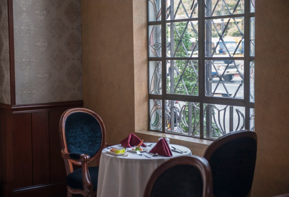 Luneta Hotel Table Window