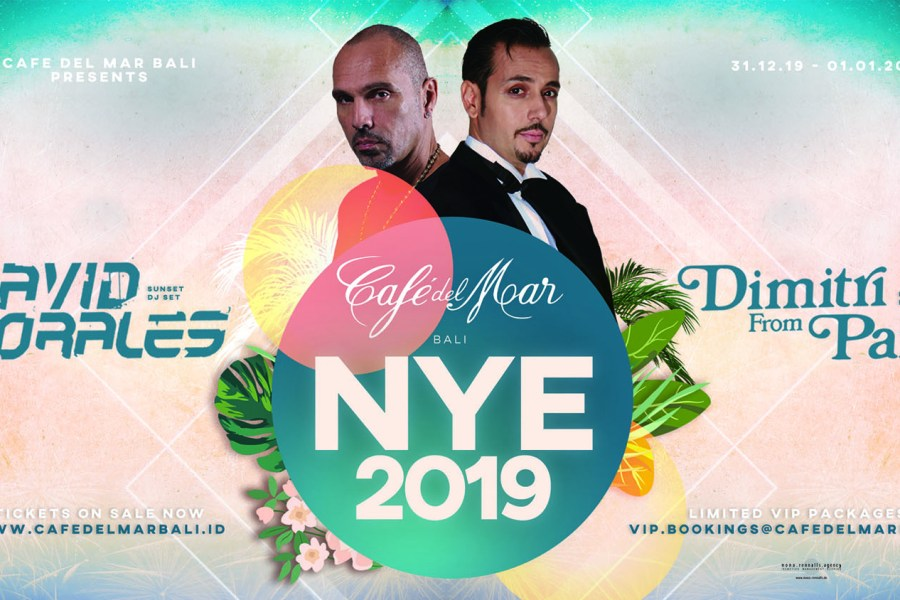 NYE at Café del Mar Bali with  David Morales & Dimitri From Paris