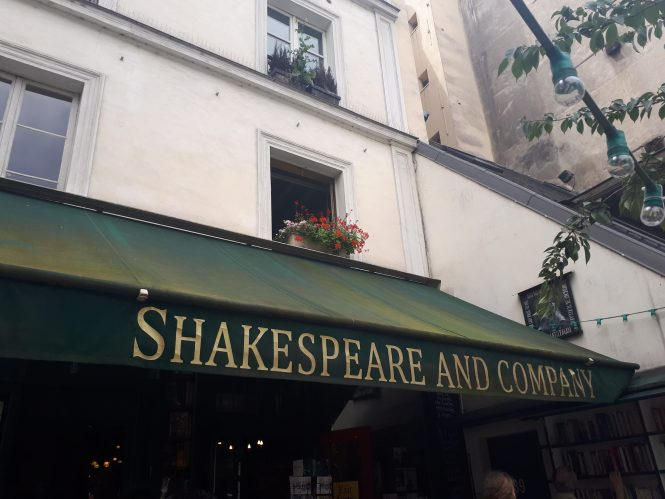 Shakespeare and Company in Paris France