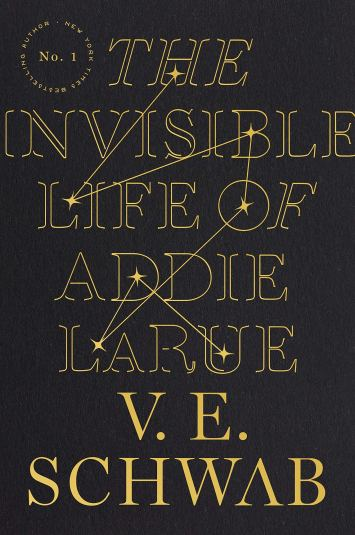 The Invisible Life of Addie Larue by V.E, Schwab book cover