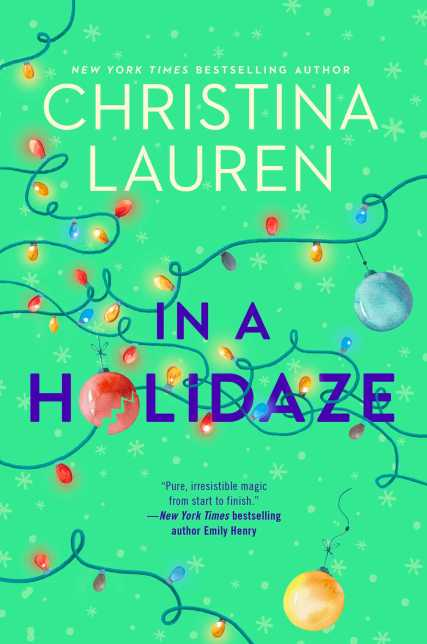 in a holidaze by christina lauren book cover