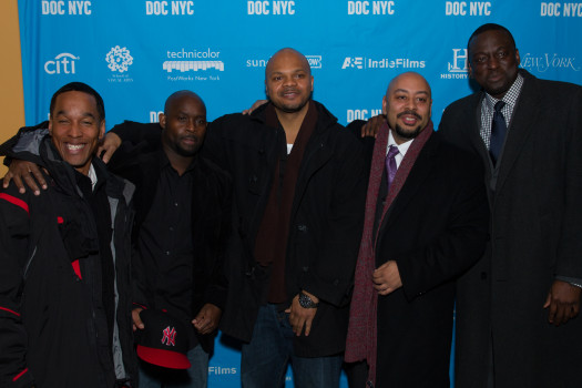 "The members of 'The Central Park Five,"" Antron McCray, Kevin Richardson, Korey Wise, Yusef Salaam and Raymond Santana, Jr. were falsely accused and convicted of rape in 1989. (Photo Credit: Simon Luethi)"