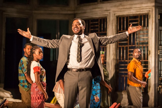 Chiwetel Ejiofor stars as Patrice Lamumba in 'A Season in the Congo'. (Photo Credit: Young Vic London/Johan Persson)