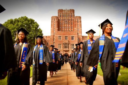 Graduates of Fisk University, a historically black university march during graduation.  (Photo Credit: Google Images)