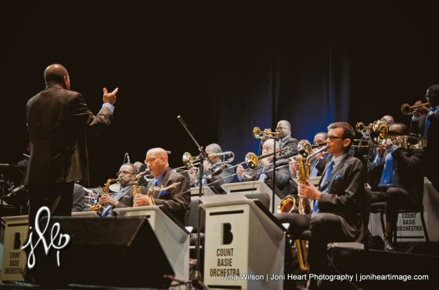 Scotty Barnhart, the new director of the Count Basie Orchestra performs at the Cobb Energy Performing Arts Center in Atlanta.  (Photo Credit:
