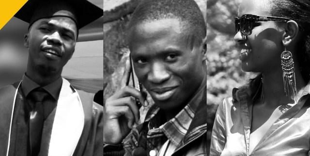 Samuel Zizinga, Augustin Nsengiyumva and Noella Mugisha compete on Rwanda's first-ever reality show 'Zamuka'. (Photo Credit: Search for Common Ground)