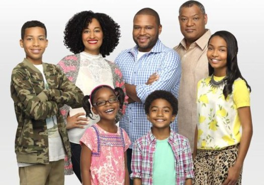 The cast of ABC's new show 'Black-ish' starring Anthony Anderson, Tracee Ellis Ross and Laurence Fishburne.  (Photo Credit: ABC)