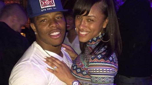 Former NFL star player Ray Rice and wife Janay Palmer Rice.  (Photo Credit: Google Images)