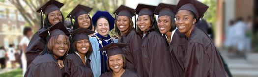 Spelman College students with President Beverly Daniel Tatum. (Photo Credit: Spelman.edu)