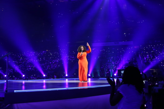 Oprah Winfrey speaks to audiences during 'The Life You Want' 2014 Weekend Tour.  Photo Credit: The Peach Review