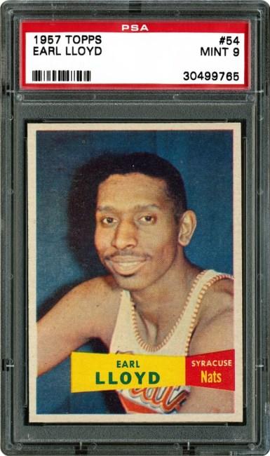 Earl Lloyd basketball card. (Photo Credit: Google Images.)