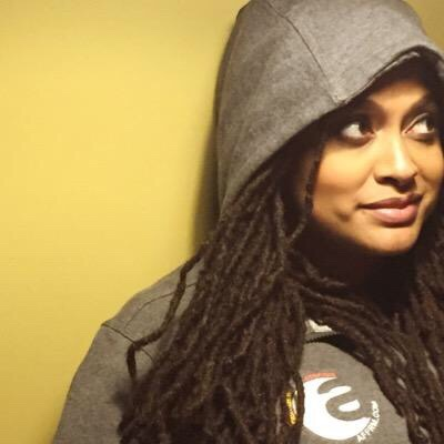 Award-winning film director Ava DuVernay wears AFFRM Rebel Movement hooded sweatshirt. (Photo: Tumblr)