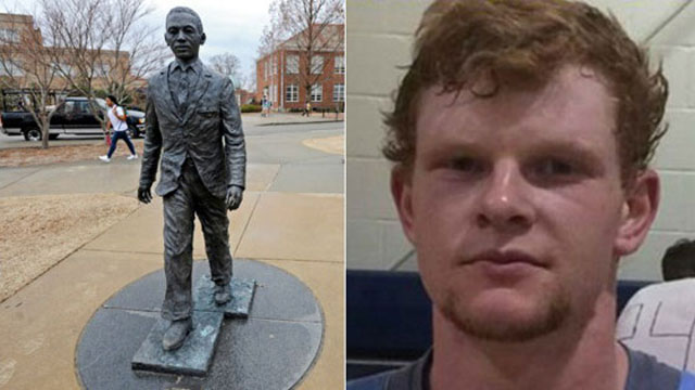 Graeme Phillip Harris pled guilty to placing a noose on the neck of a statue of James Meredith, the first African-American student at Ole Miss. (Photo: Google Images)