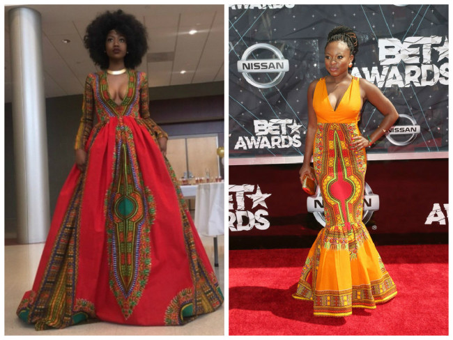 Designer Kyemah McEntyre (l) designed Power and BET Backstage Host Naturi Naughton's Dress for the 2015 BET Awards. (Photos: Google Images)