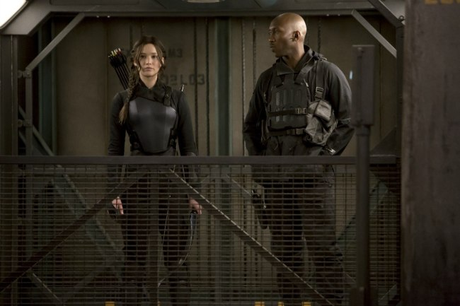The Hunger Games heroine Katniss Everdeen, Jennifer Lawrence, alongside Commander Boggs, Mahershala Ali. (Photo: Google Images)