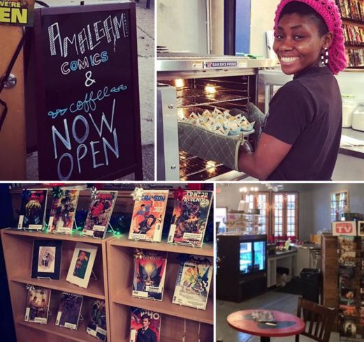 Amalgam Comics & Coffeehouse owner Arielle R. Johnson. (Photo: Blacksportsonline.com)