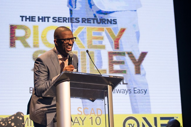 Comedian and media personality Rickey Smiley premieres the second season of his TV One docuseries, 'Rickey Smiley For Real,' in Atlanta (Photo Credit: Marcus Ingram/Getty Images).