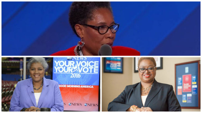 Rep. Marcia Fudge, Donna Brazile and Leah Daughtry hold the three top positions in the DNC. (Photos: Google Images)