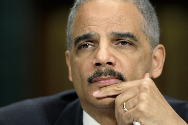 U.S. Attorney General Eric Holder listens to a question at a hearing of the Senate Judiciary Committee on Capitol Hill in Washington, March 6, 2013. REUTERS/Jonathan Ernst (UNITED STATES - Tags: POLITICS CRIME LAW) - RTR3ENGY