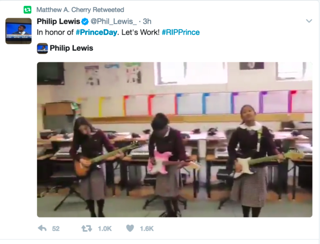 Students play Prince