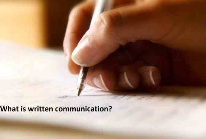 What is written communication