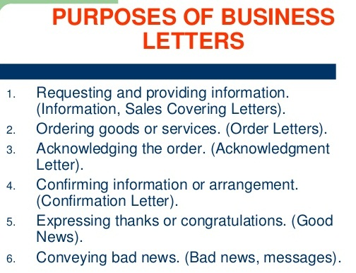 Purposes of Business Letter