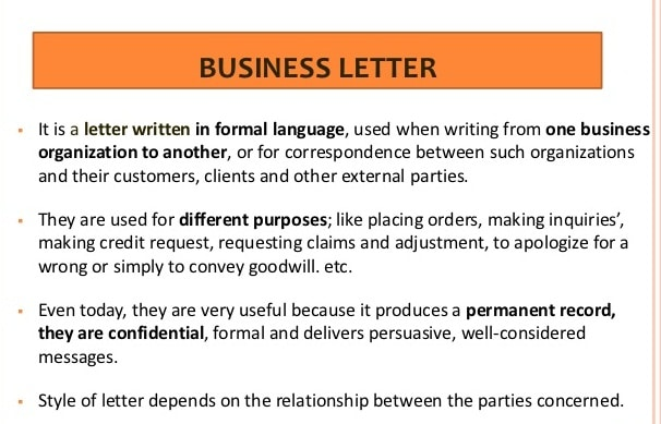 Meaning of Letter Meaning of Commercial Letter Business Letter