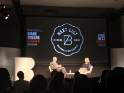 Diane Green of Google Cloud on stage at WIREDBizCon