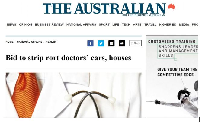 Rorting doctors