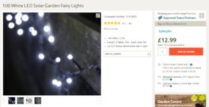 Tesco fairy lights