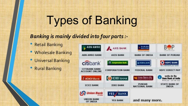 kinds of banking institutions