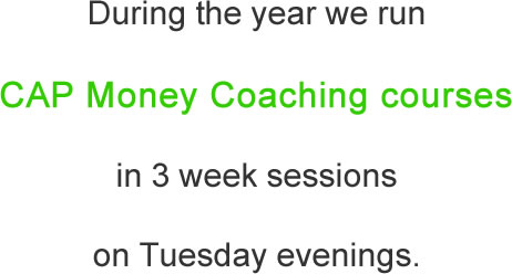 CAP money course 3 sessions tuesdays