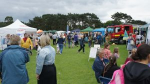 People enjoying themselves at the fete