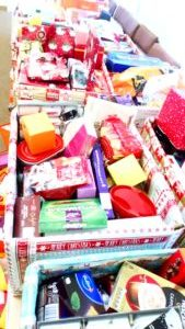 Christmas hampers packed
