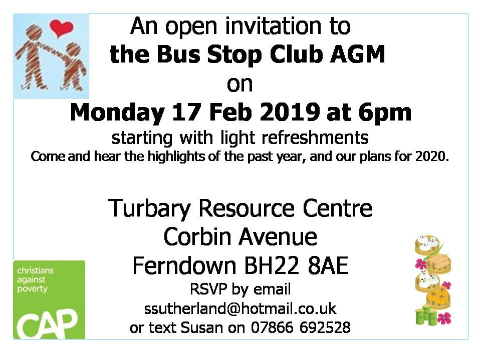 The Bus Stop Club AGM Invite