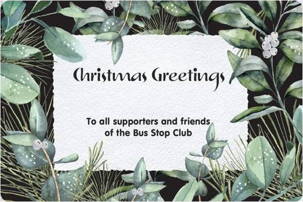 A sincere thanks to all our supporters and friends at Christmas!