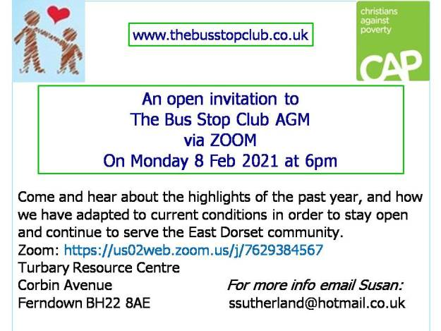 Open invitation to AGM 8 Feb 6pm