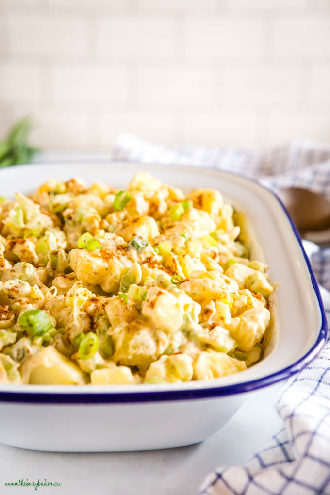 bowl of easy potato salad