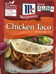 taco seasoning packet