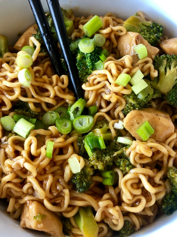 Chicken Broccoli Ramen Noodle stir fry