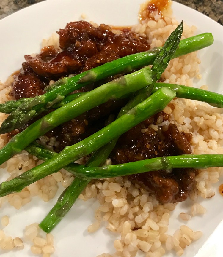 Mongolian Beef and asparagus - delicious and easy