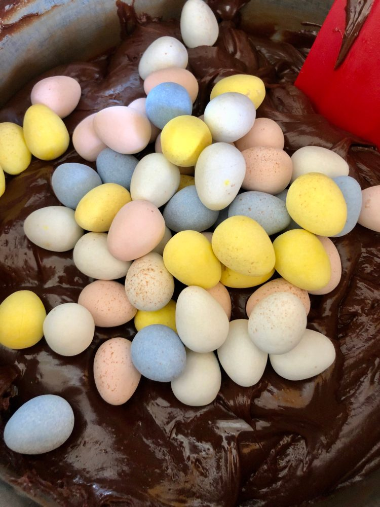 Easter Fudge with Mini Eggs - everyone loves it