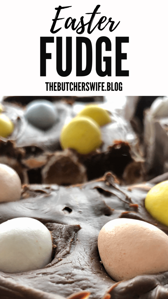 The best Easter Fudge with mini eggs- easy to make and everyone loves it