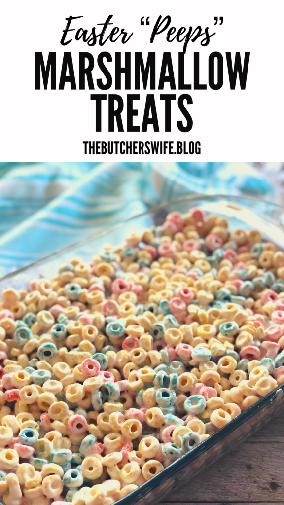 Soft and marshmallowy treat for Easter - made with Peeps cereal