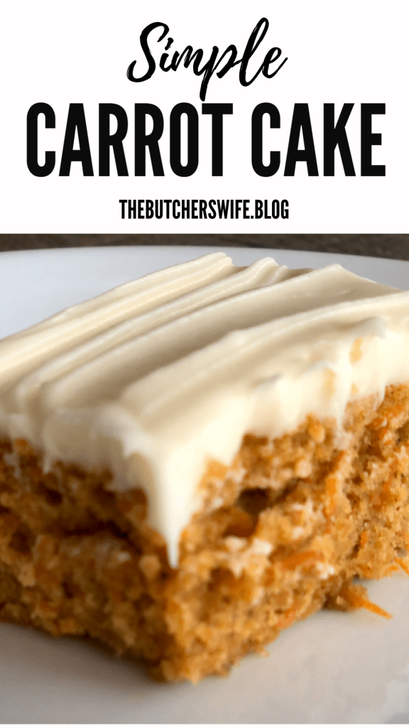 Simple and Easy Carrot Cake with Cream Cheese Frosting