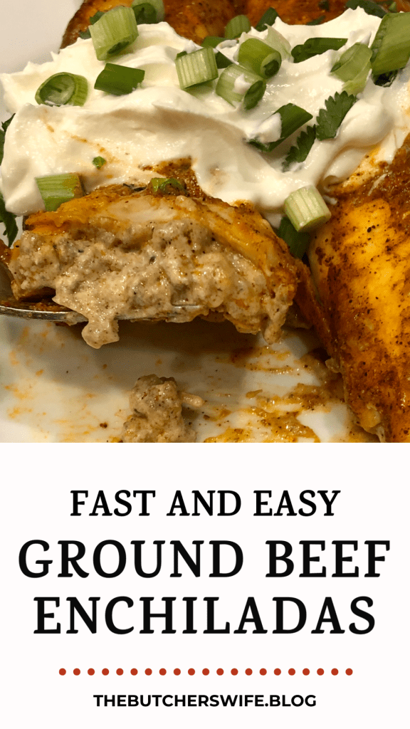 Fast and Easy Ground Beef Enchiladas - it's what's for dinner