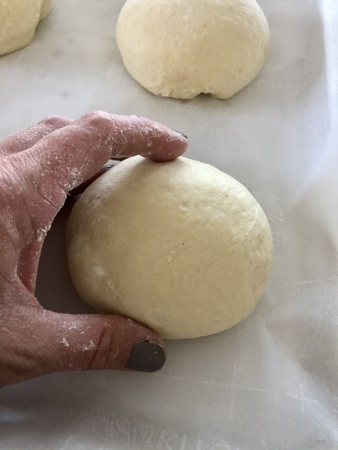 dough ball size starting out before raising