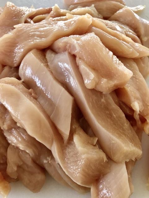 boneless chicken breasts cut into chicken strips