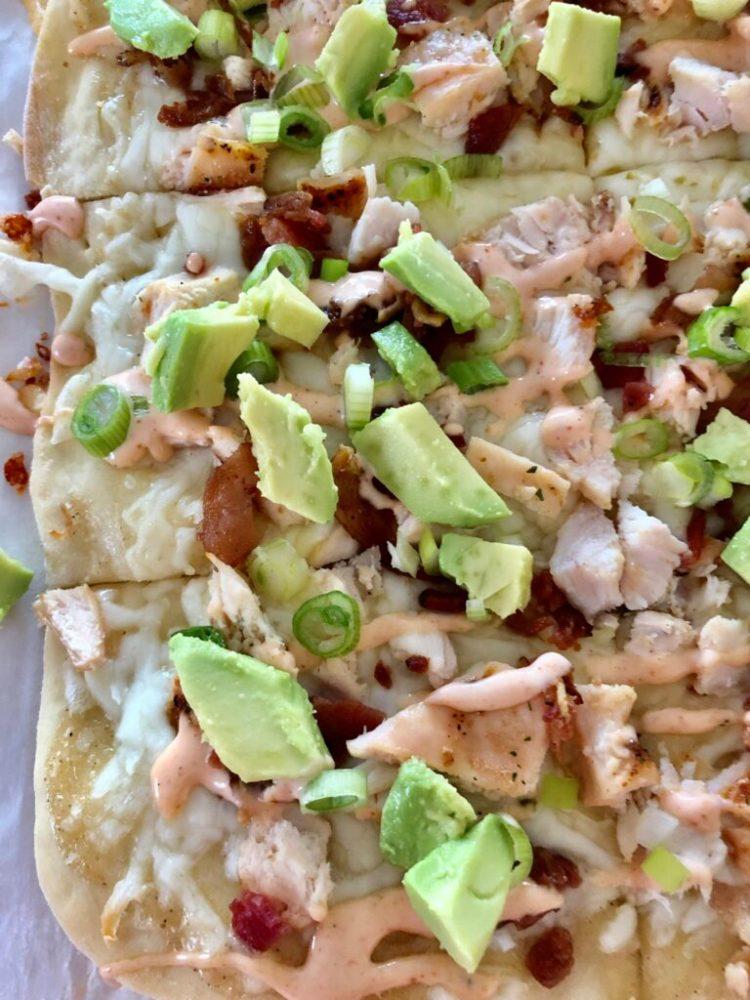 Chicken Bacon Avocado Flatbread | The Butcher's Wife